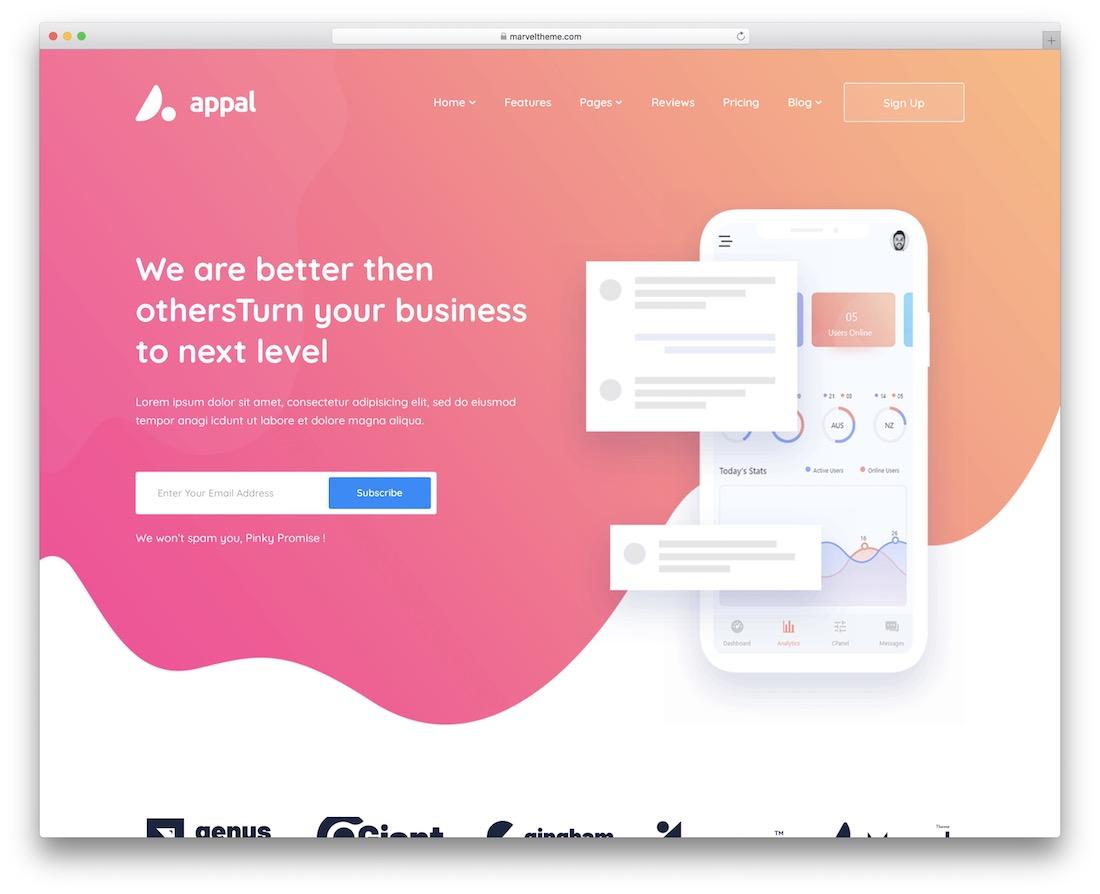 appal bootstrap wordpress theme