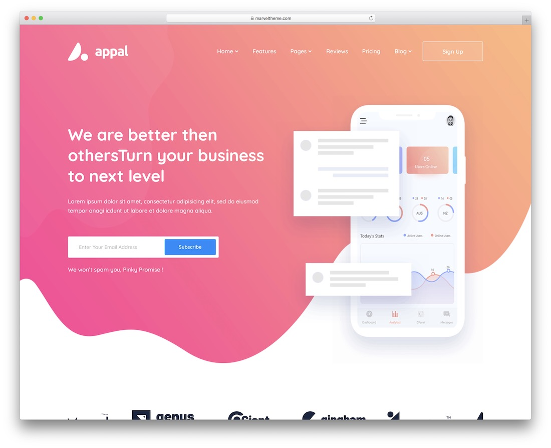 appal wordpress technology theme