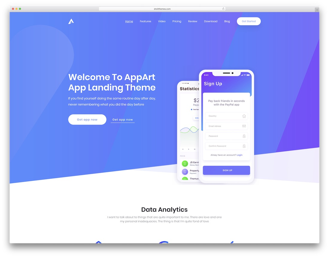 appat company website template