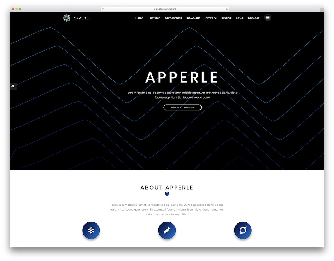 apperle technology website template