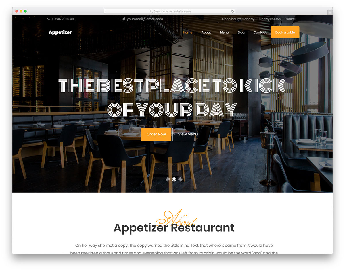 Appetizer Free Template