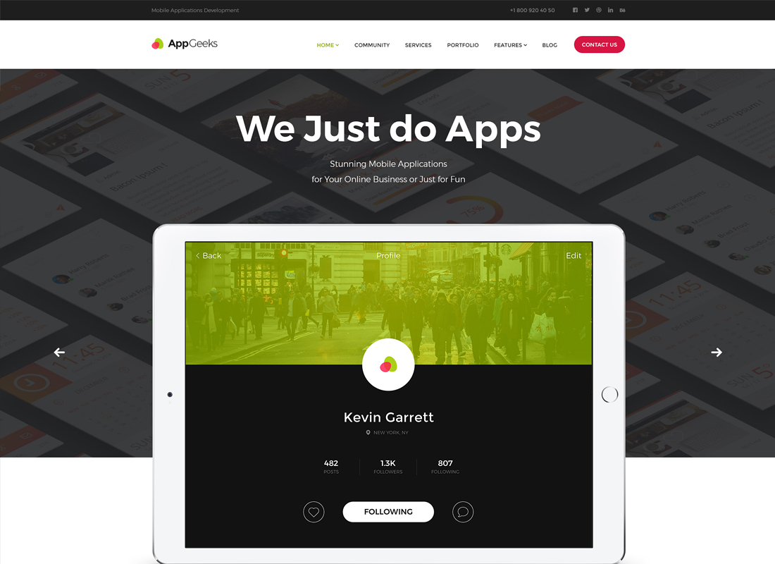 AppGeeks - A Web Studio & Creative Agency WordPress Theme
