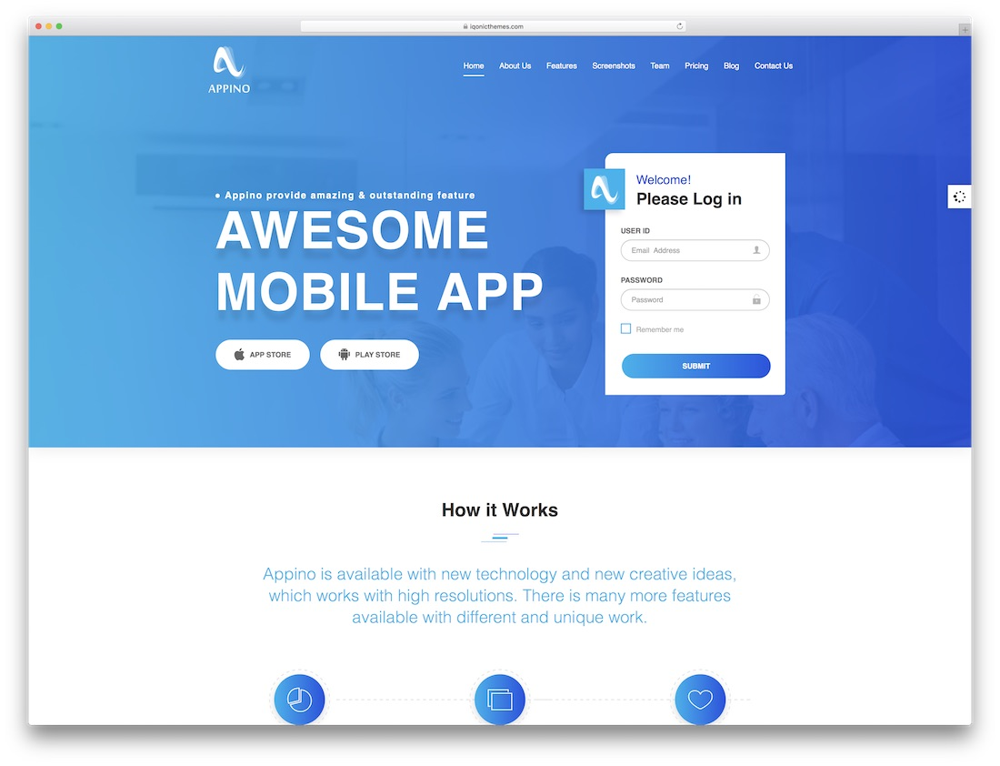 appino software company website template