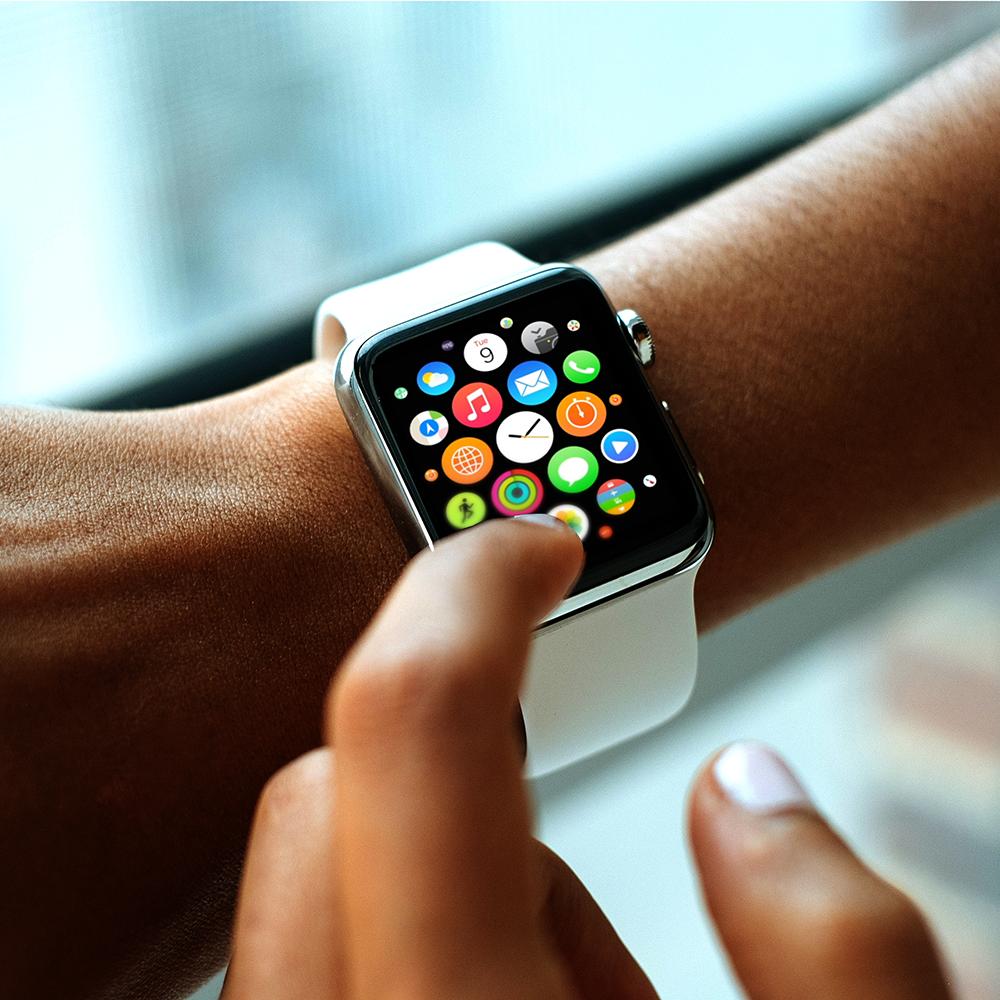 Free Apple Watch Mockup Finger