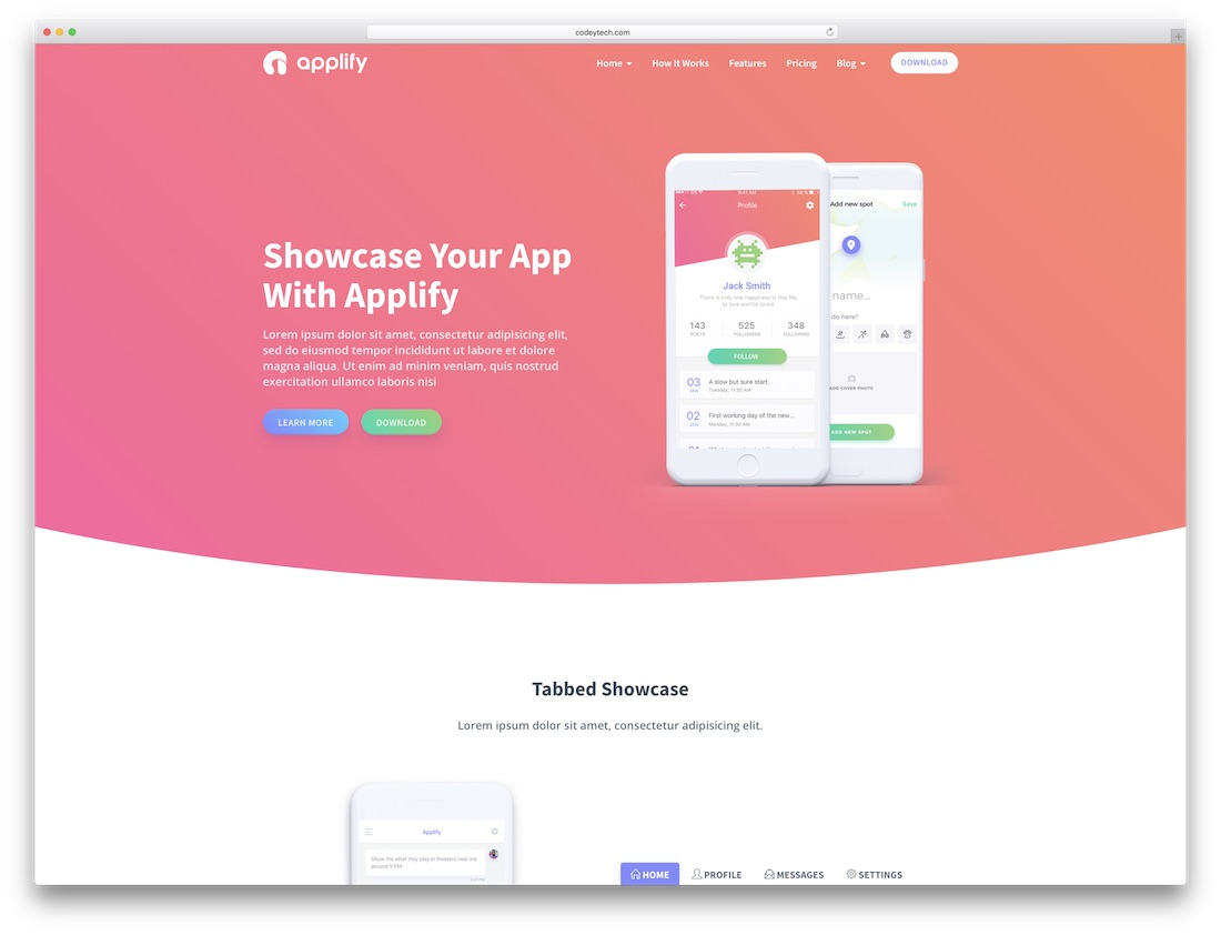 applify software company website template