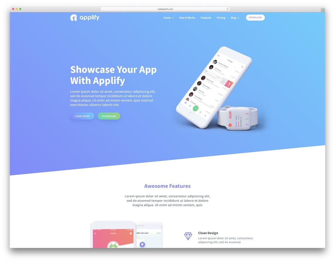 applify technology website template