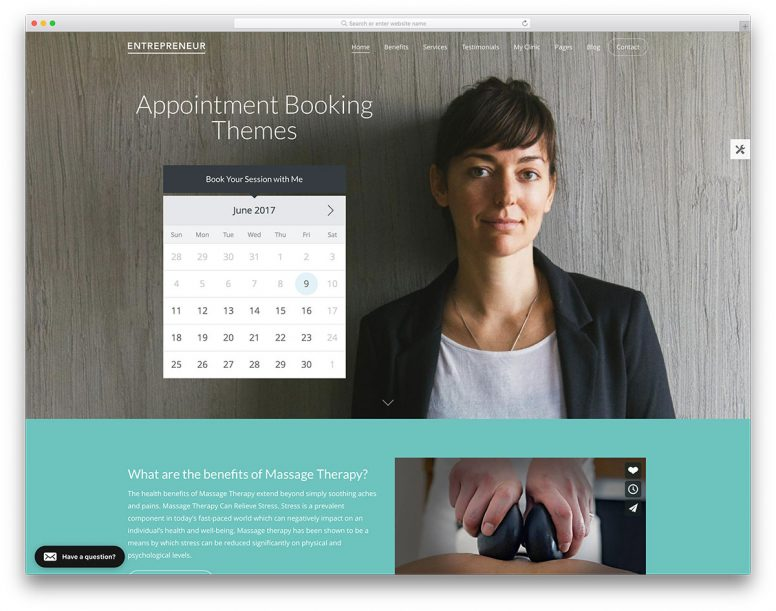 25 WordPress Business Themes With Appointment Booking Forms 2017
