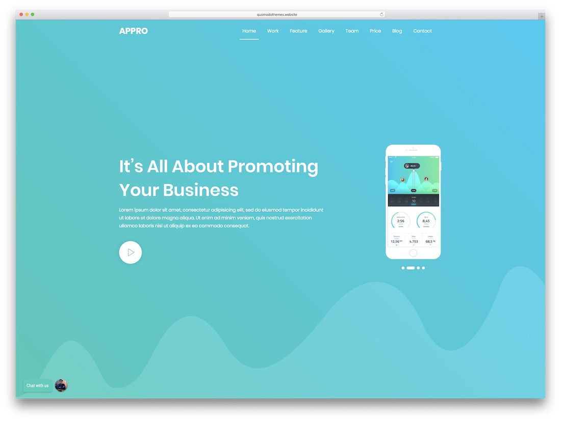 appro app landing wordpress theme