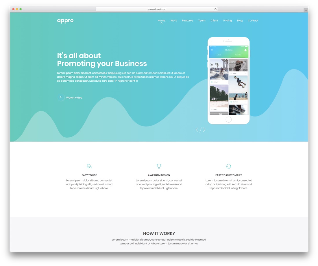 appro simple website template