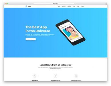 Apps Free App Website Template