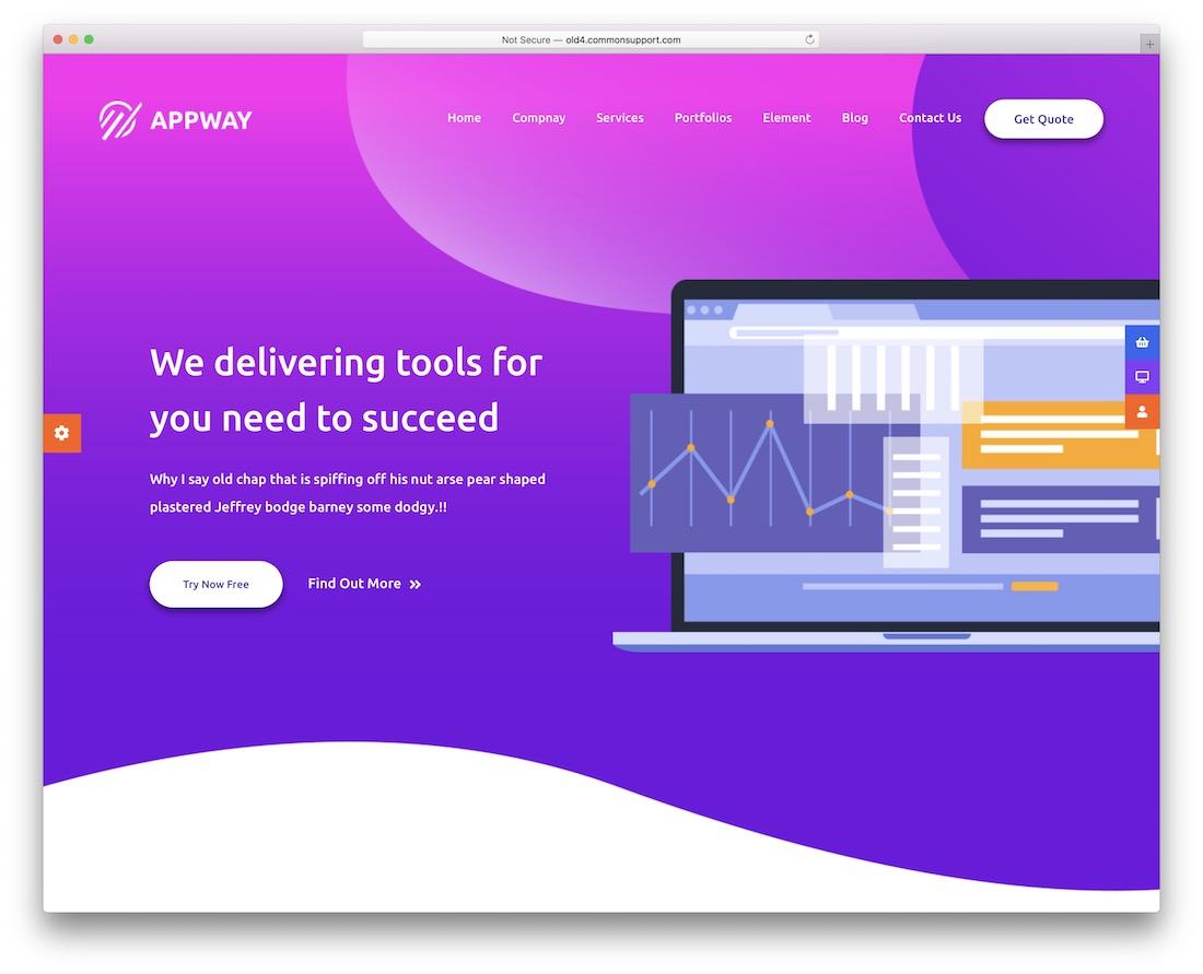 appway startup wordpress theme