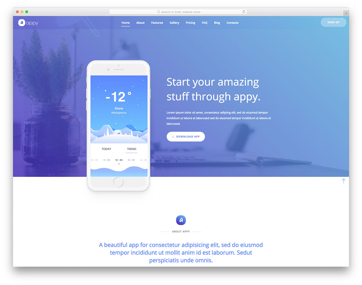 appy free mobile app website template colorlib