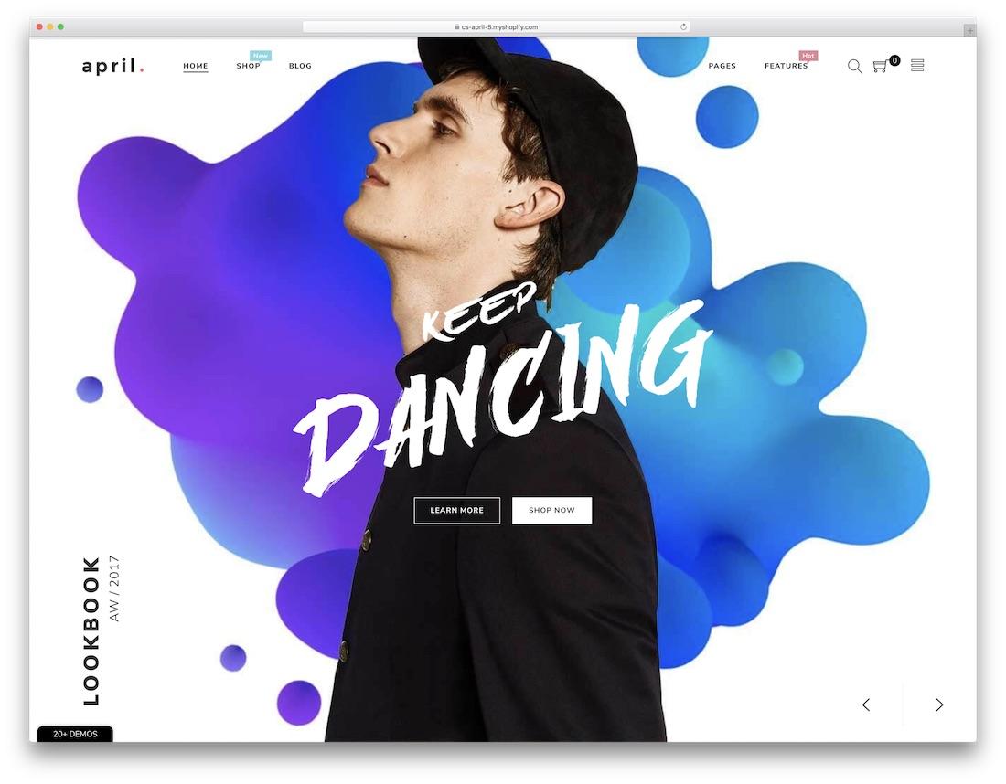 april fashion shopify theme