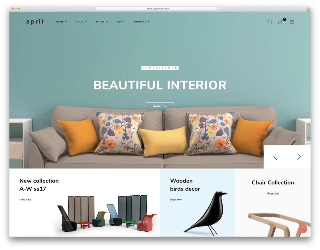 april prestashop theme