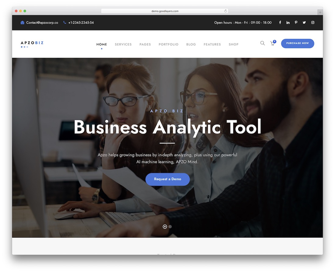 apzo it company wordpress theme