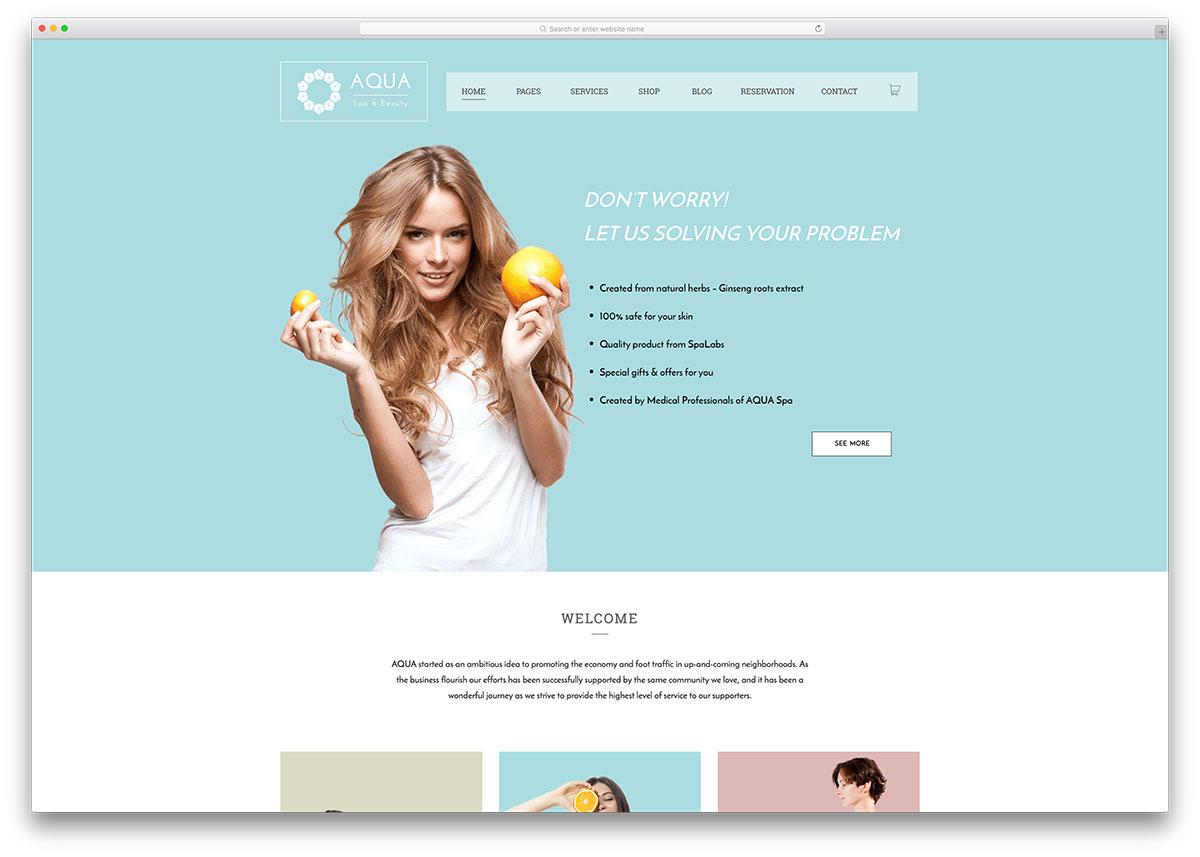 18 Beautiful Spa & Beauty Salon WordPress Themes 18 - Colorlib