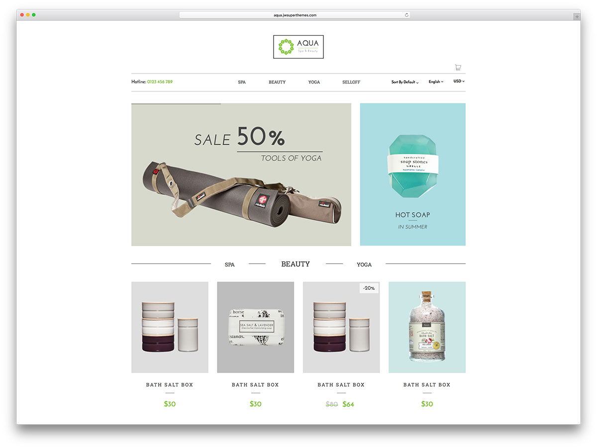 aqua-minimal-health-ecommerce-wordpress-theme