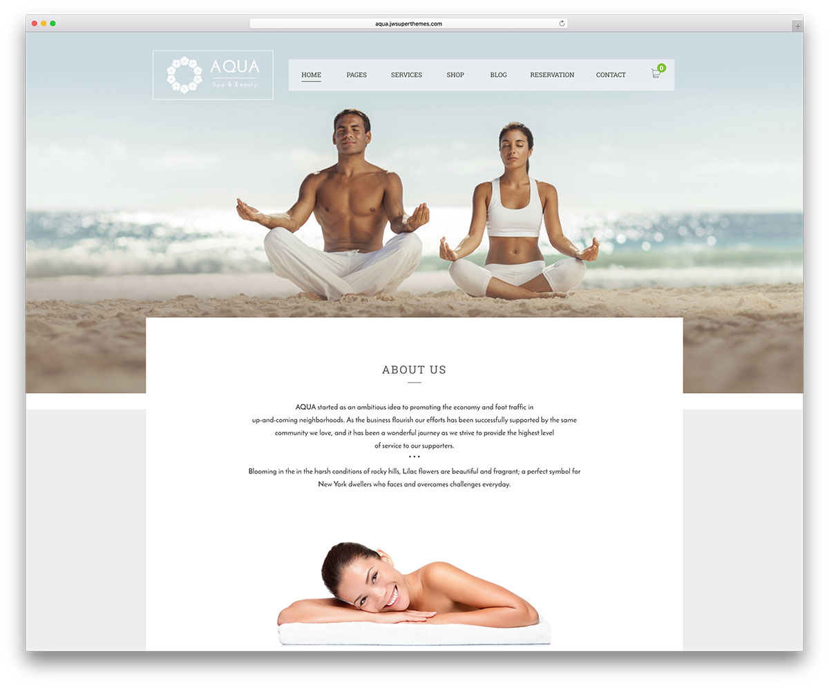 aqua-yoga-wordpress-website-template