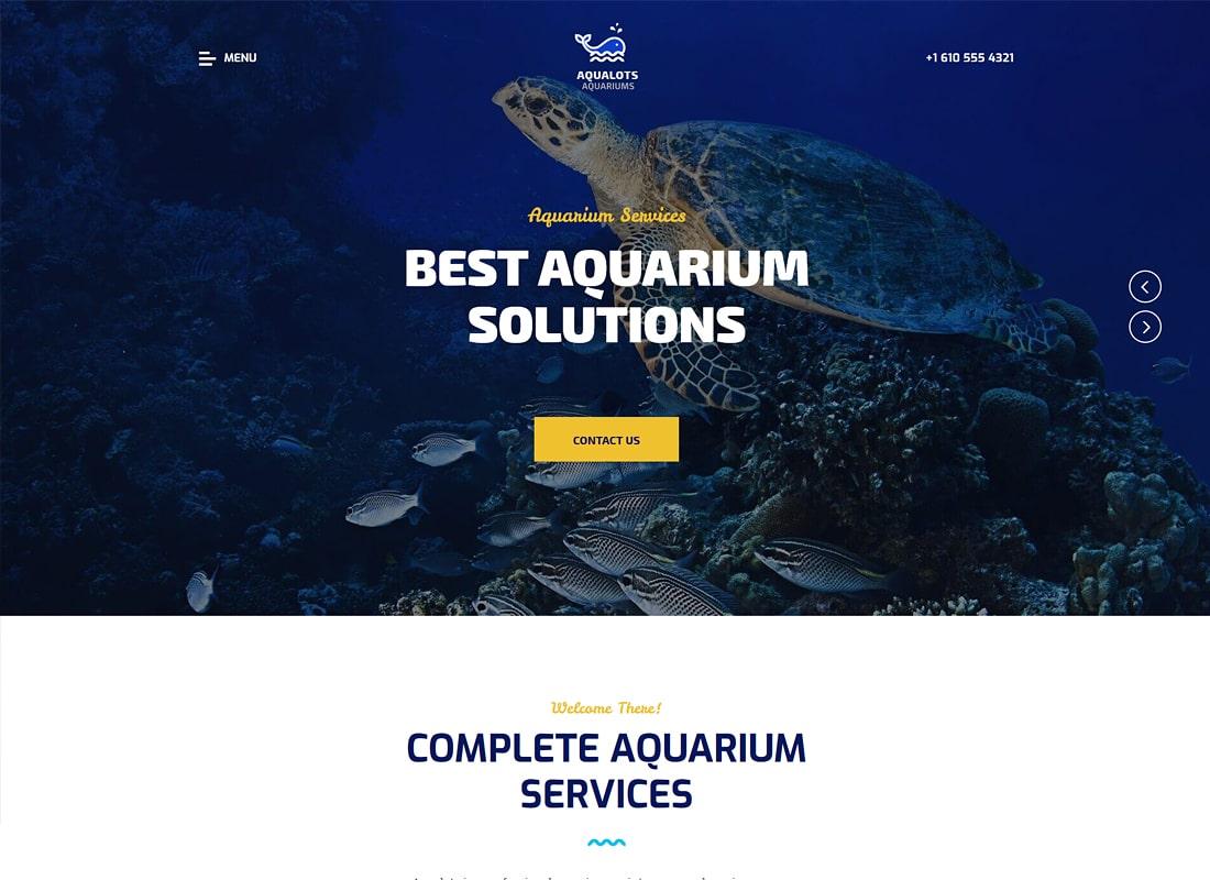 Aqualots | Aquarium Services WordPress Theme