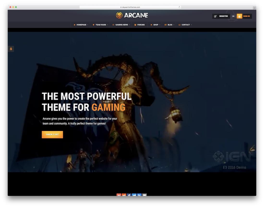 20 Best Clan Website Templates [HTML & WordPress] 2019