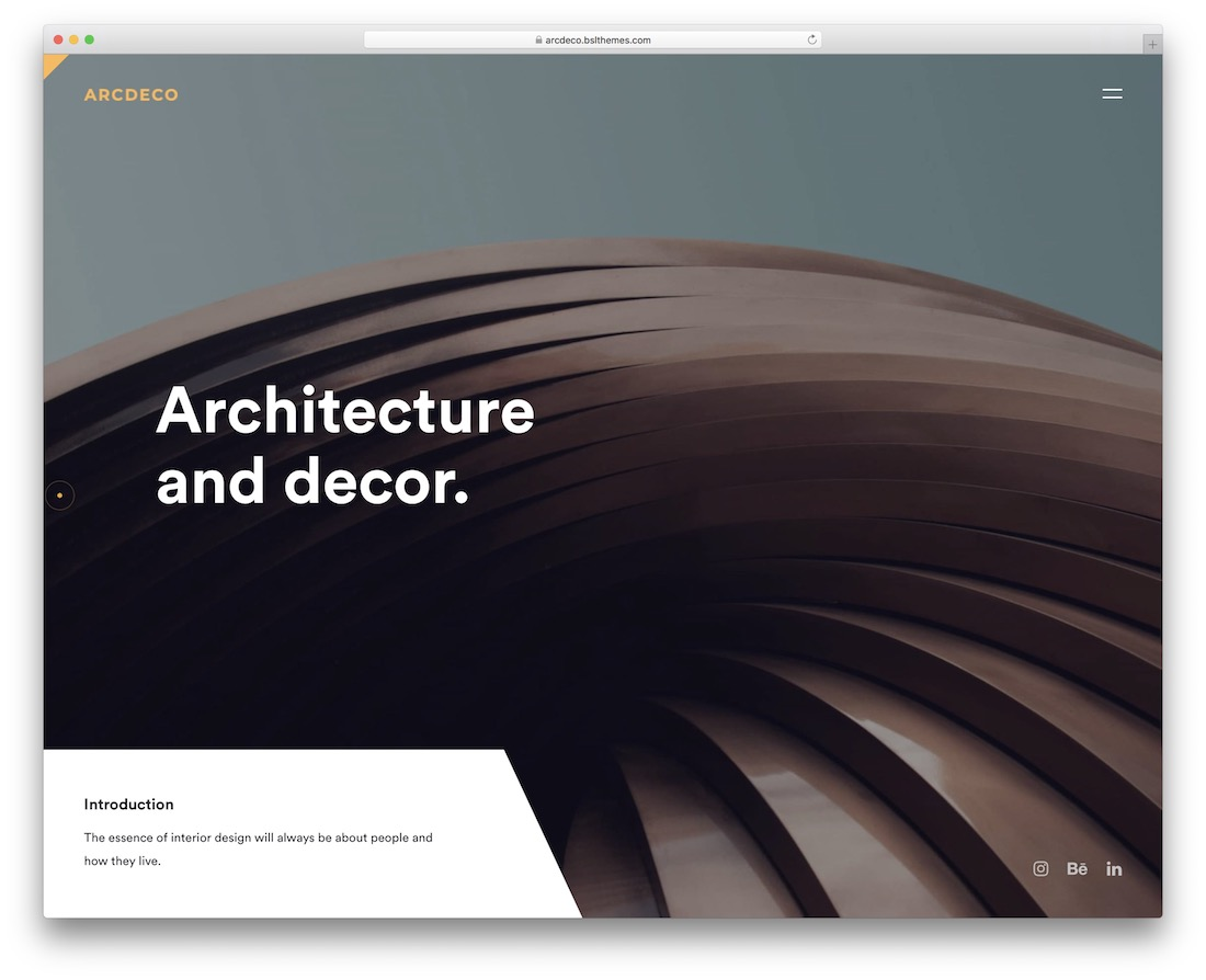 arcdeco wordpress theme for architects