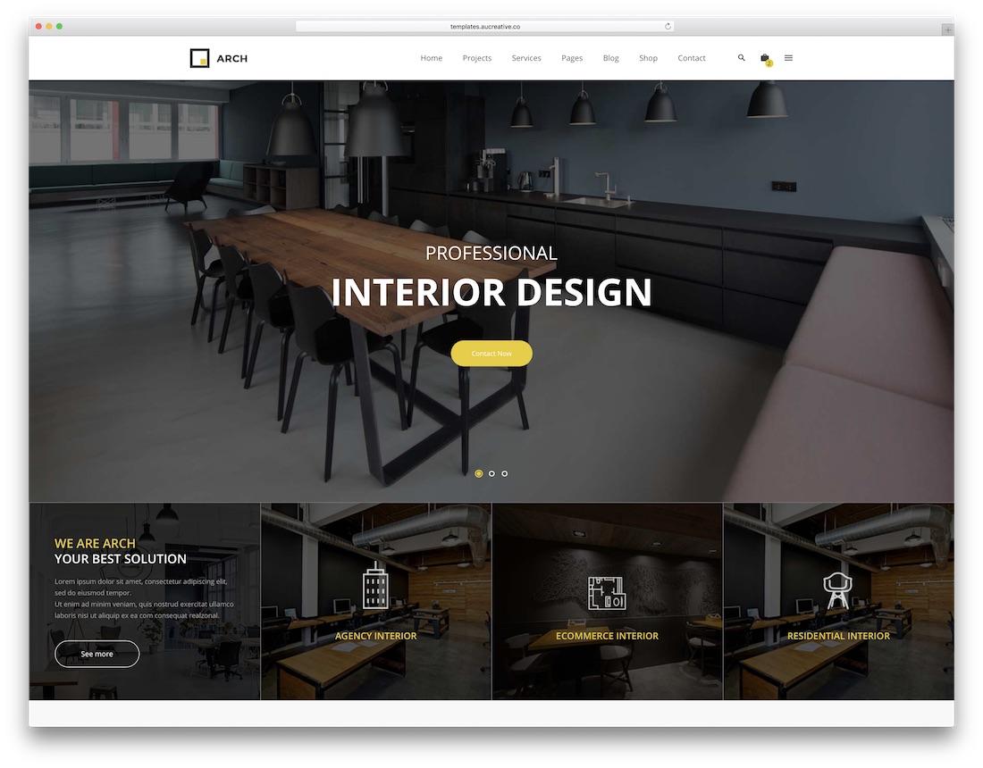 Arch decor interior design website template