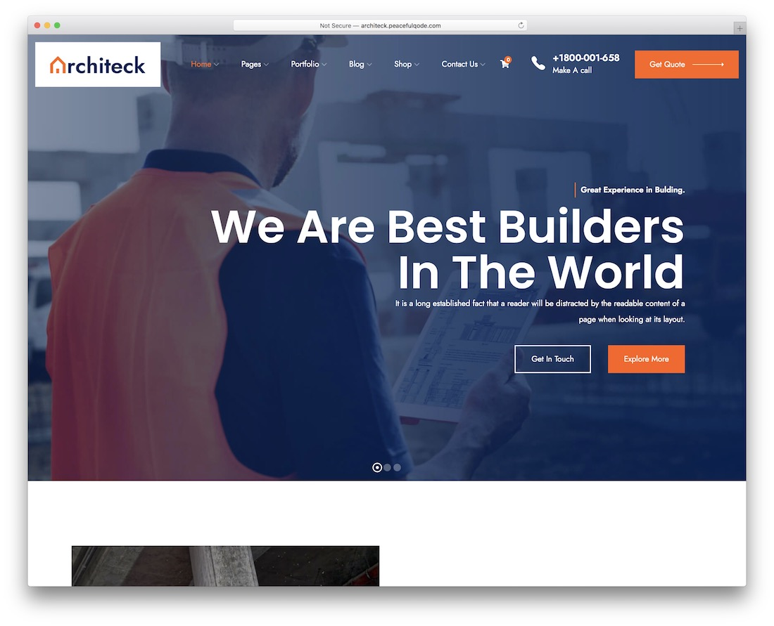 architeck construction company template