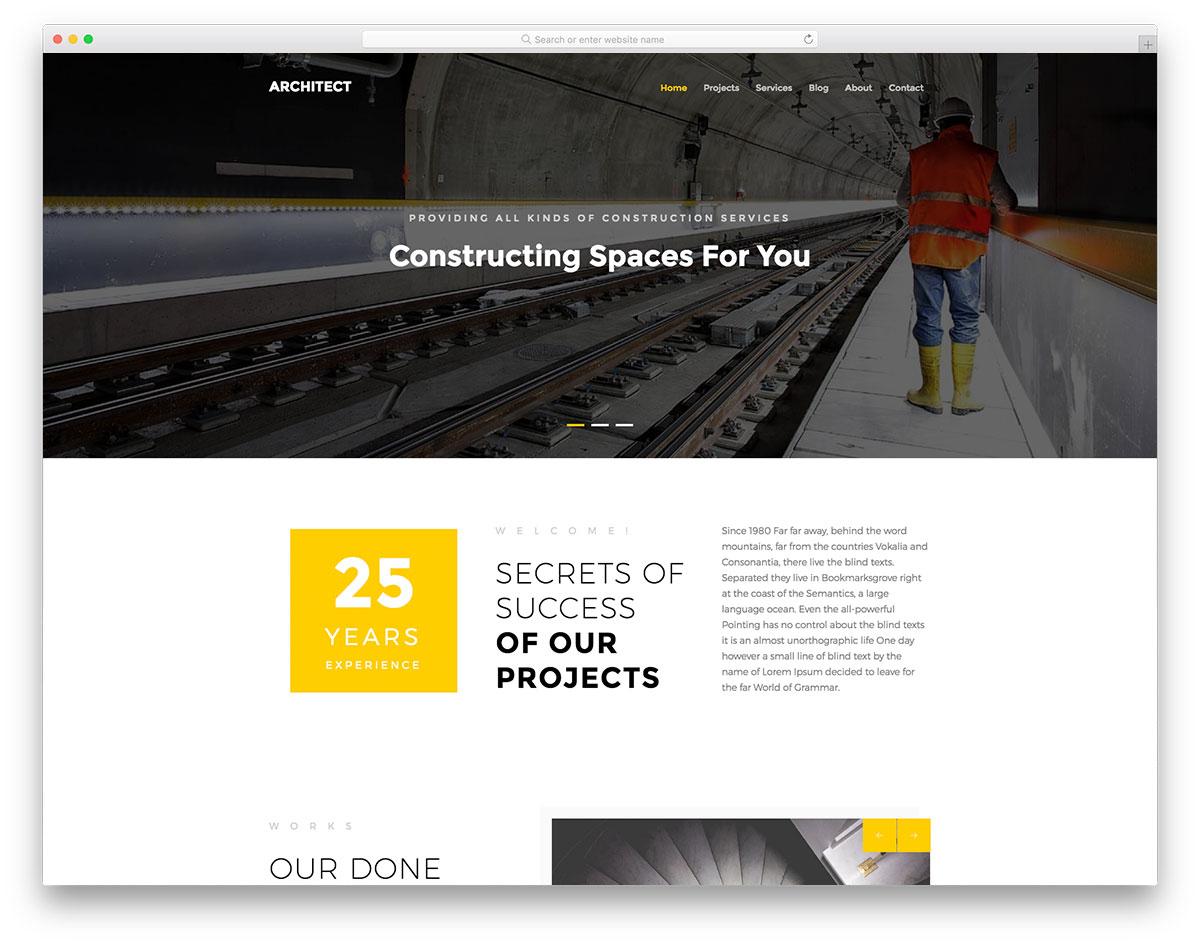 Скачать бесплатно html шаблон Architect