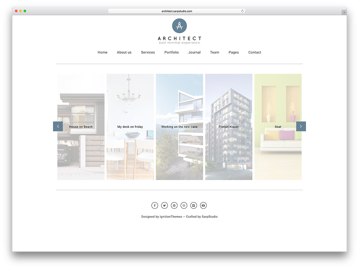 Comfortable architecture portfolio template gallery for Architecture wordpress