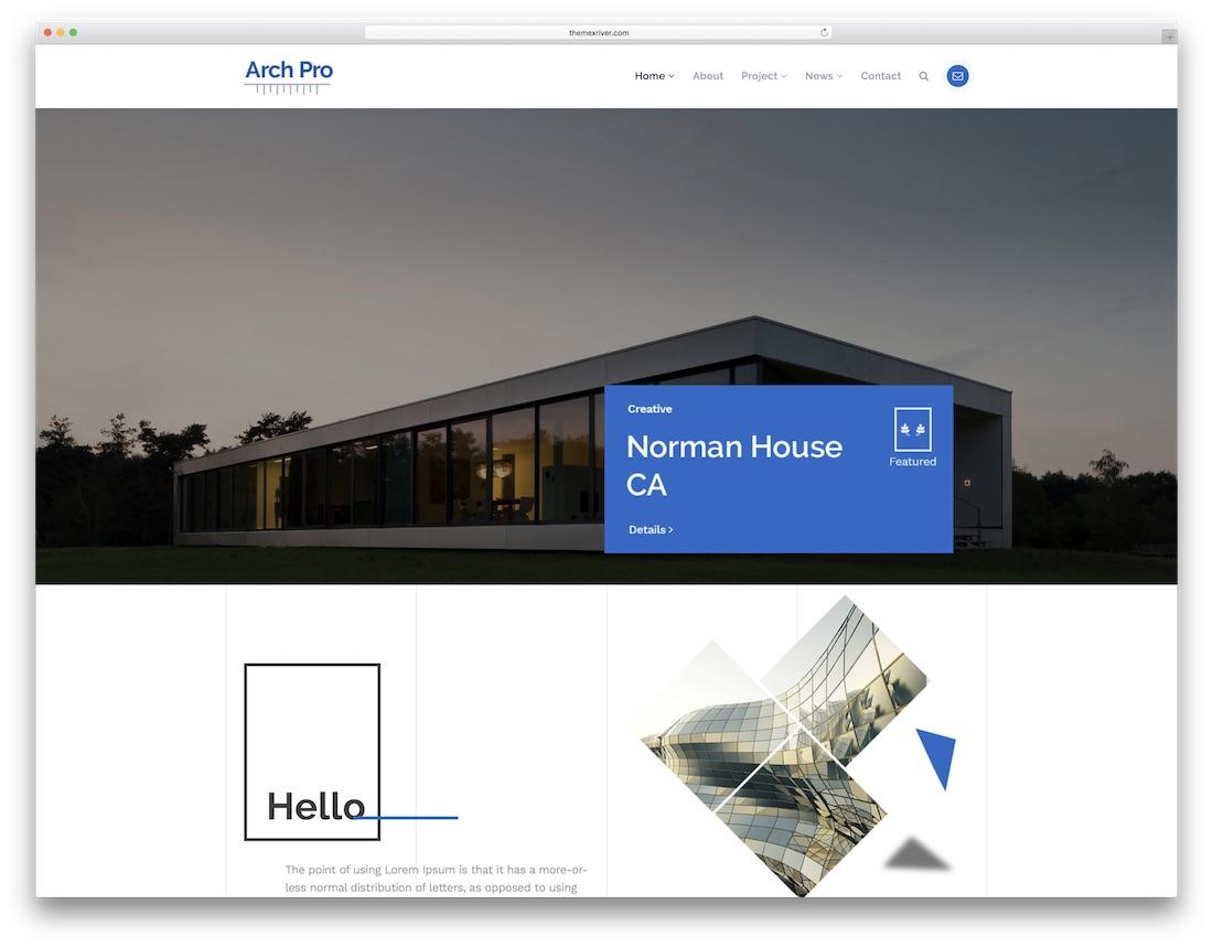 architecture pro interior design website template