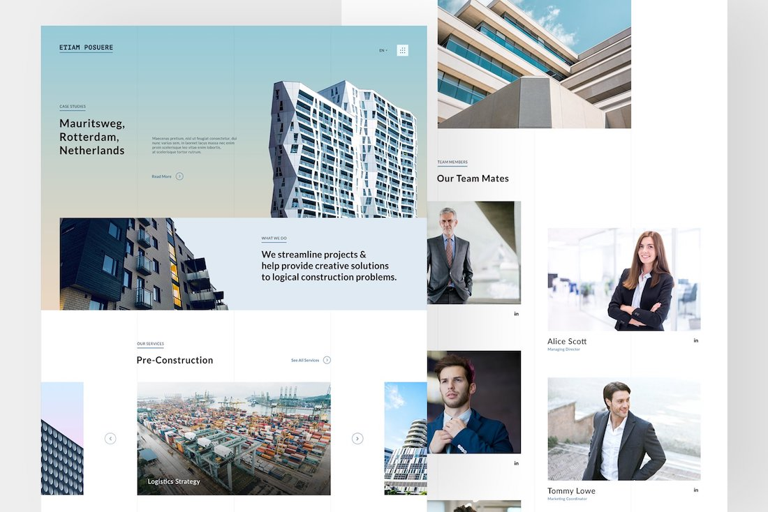 architecture responsive psd sketch
