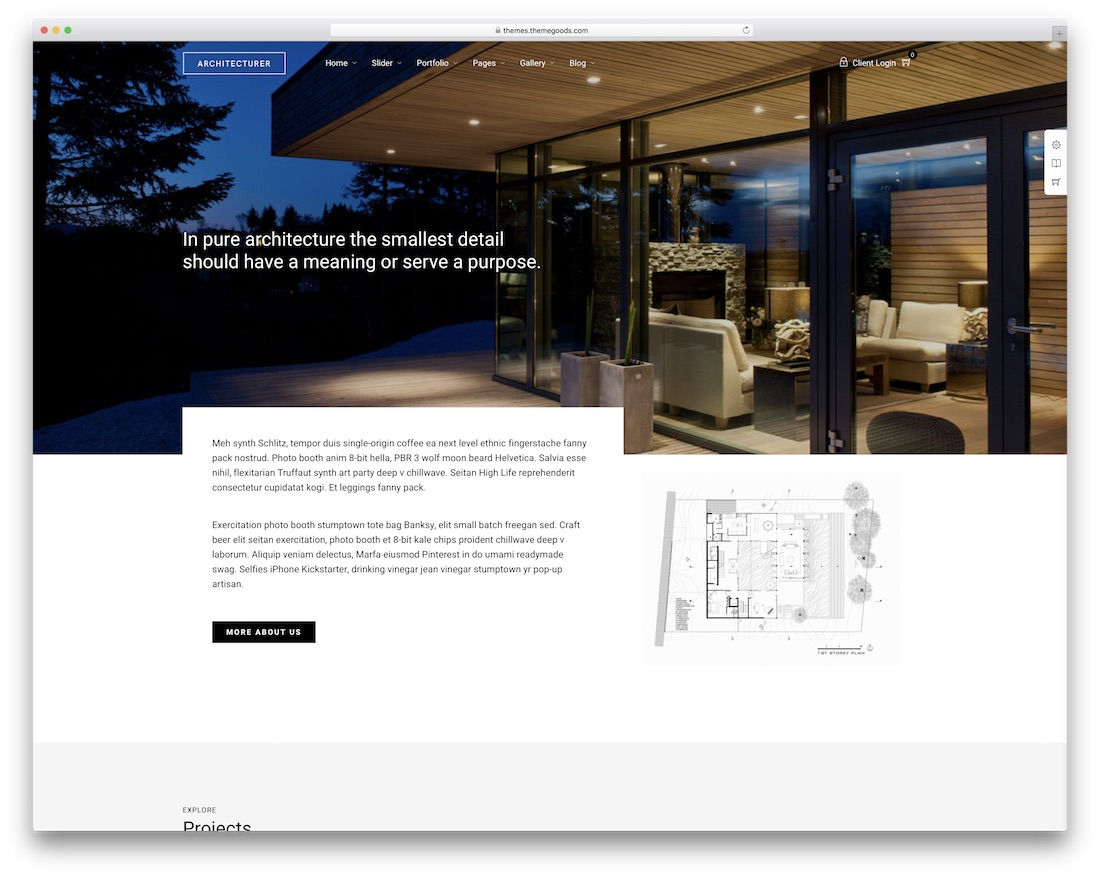 architecturer interior design wordpress theme