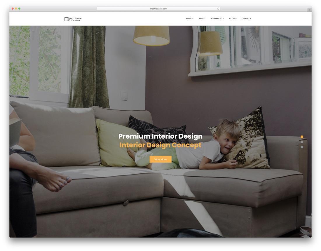 archome interior design website template