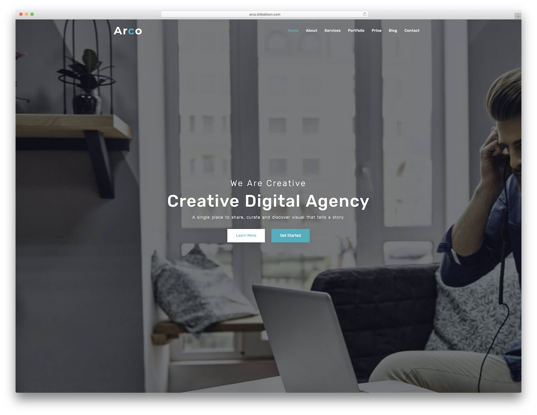 arco html5 one page website template