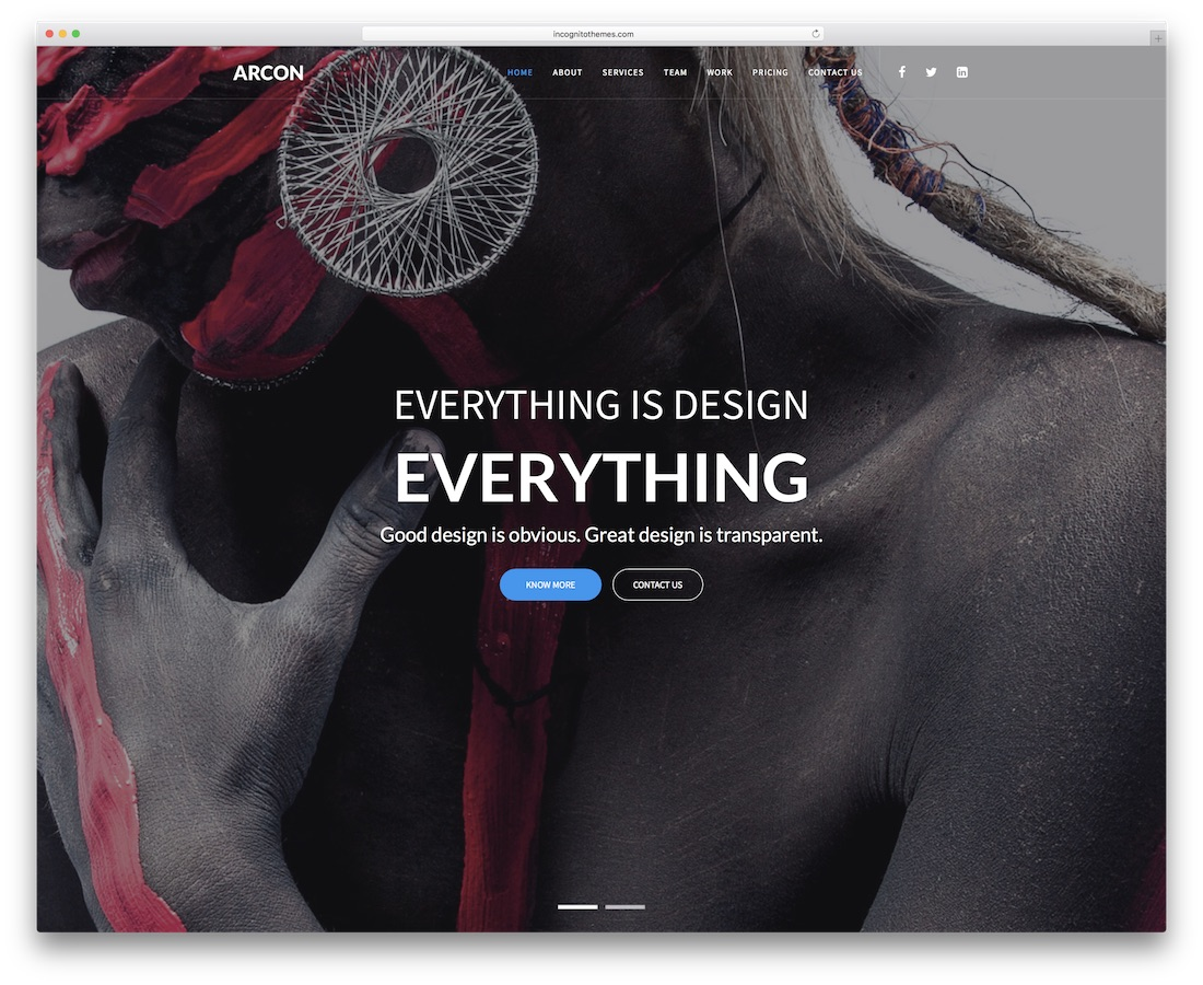 arcon creative website template
