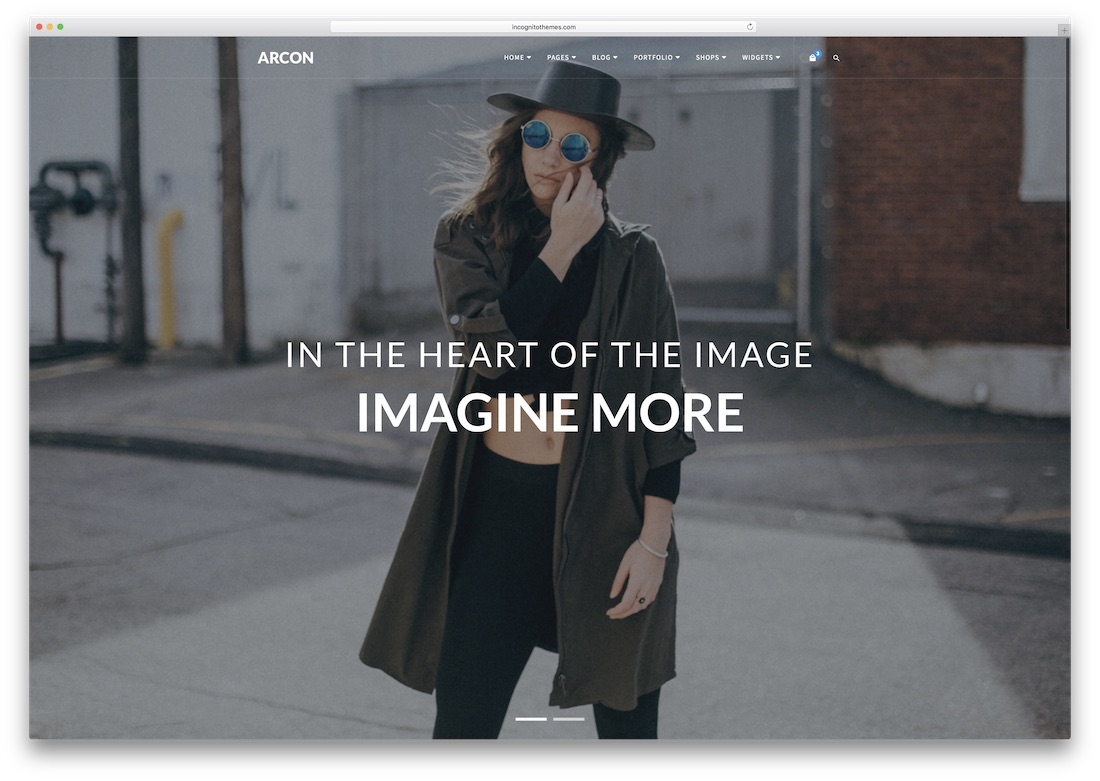 arcon photography website template