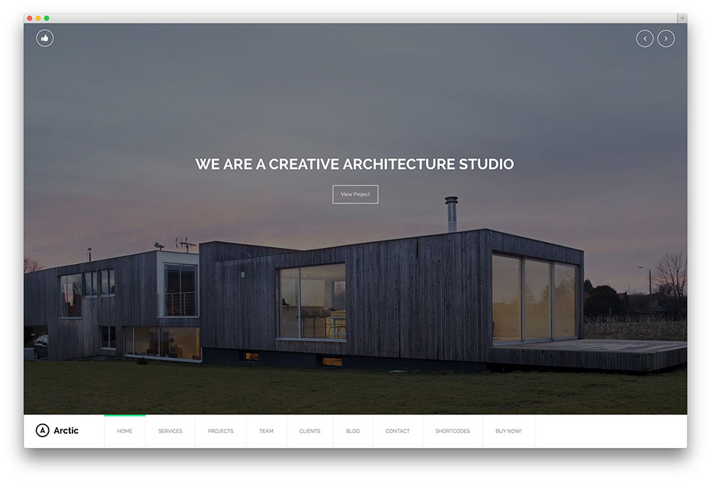 arctic theme for architects