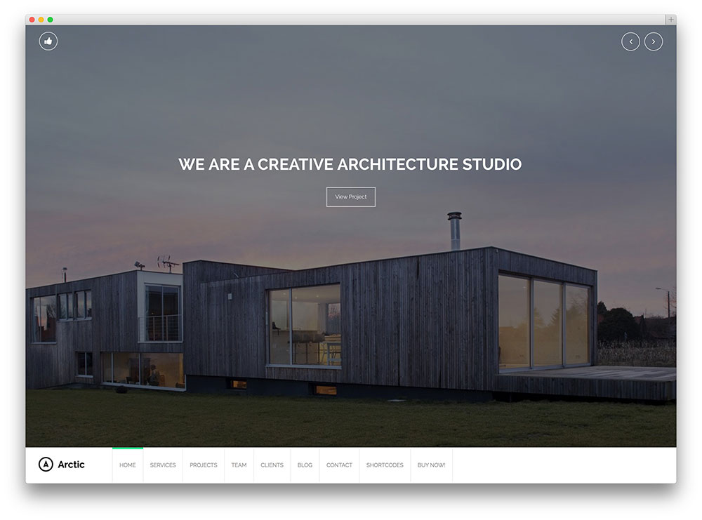 arctic - architect WordPress theme