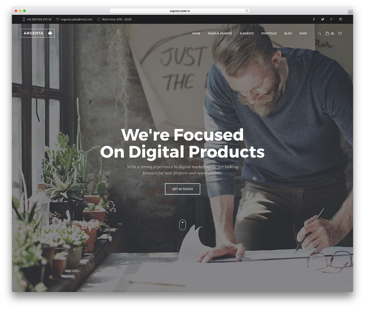 30 Best Full Screen Wordpress Themes 2018 Colorlib Download Power Point Backgrounds Mater Free Hd Argenta Is A Multipurpose Theme With Lots Of Specialized Demos It Has Very Responsive Design Premade Layouts And One Click Install