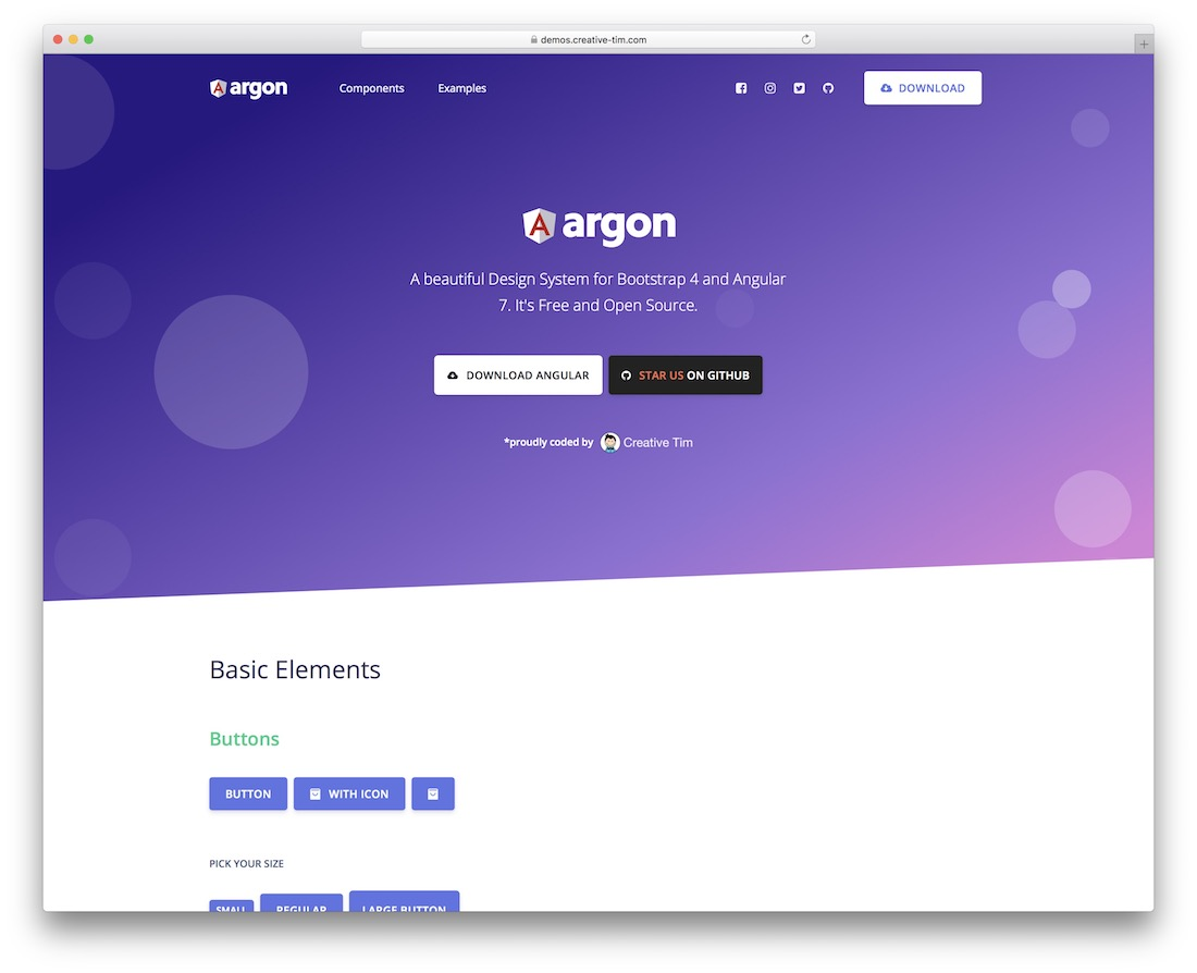 argon design system angular