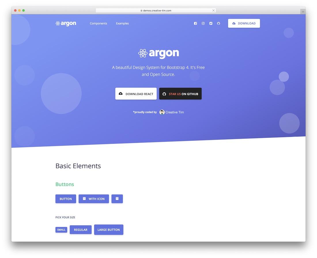 argon design system react free