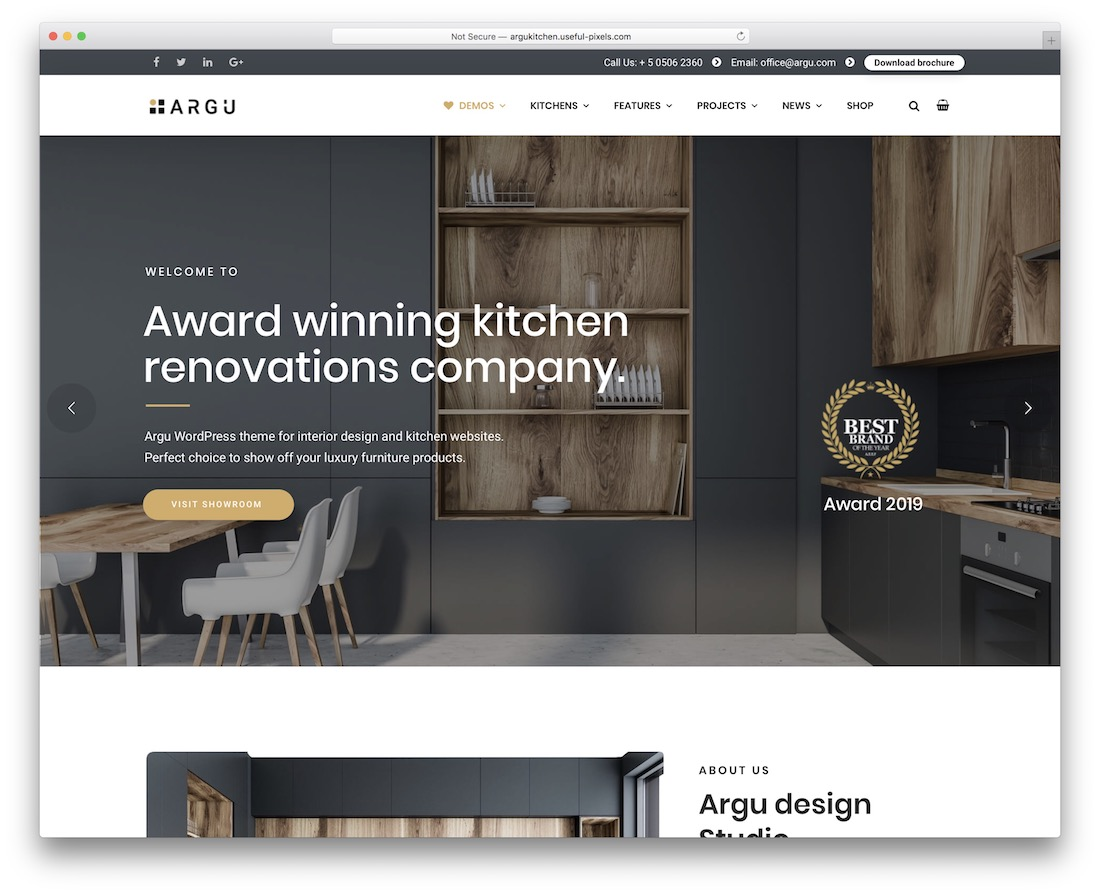 argu interior design wordpress theme