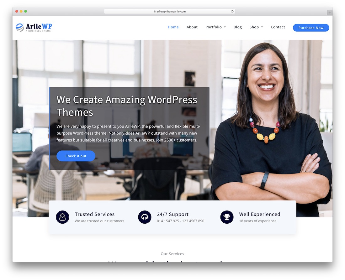 arilewp free bootstrap wordpress theme