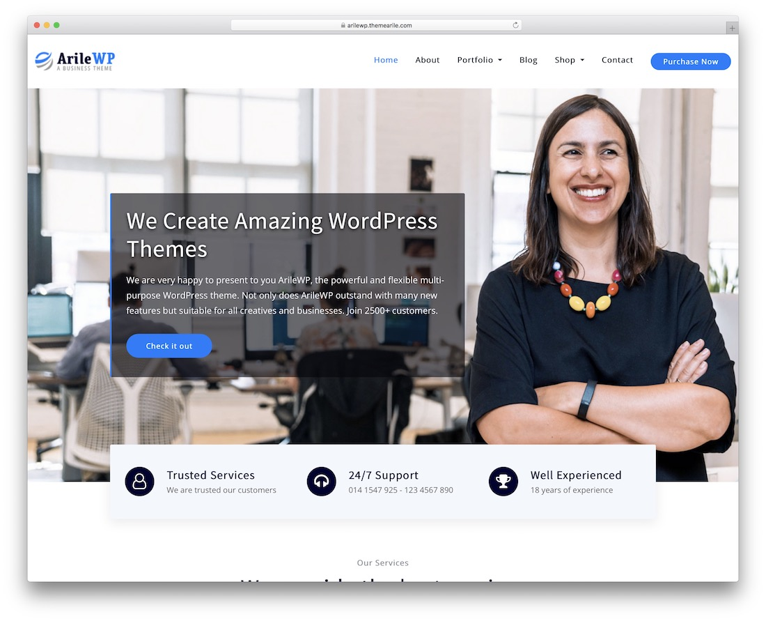 arilewp free wordpress lawyers theme