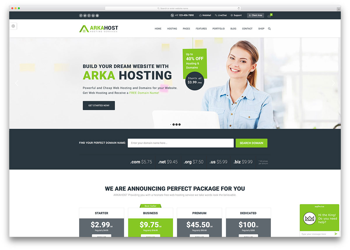 arkhost-professional-hosting-wordpress-theme
