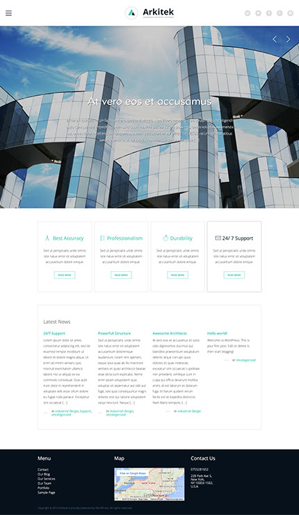 arkitek interior and architecture WP theme