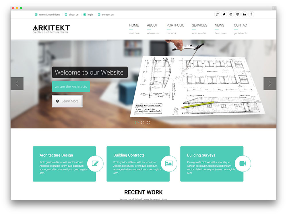 arkitekt - clean architecture wordpress theme
