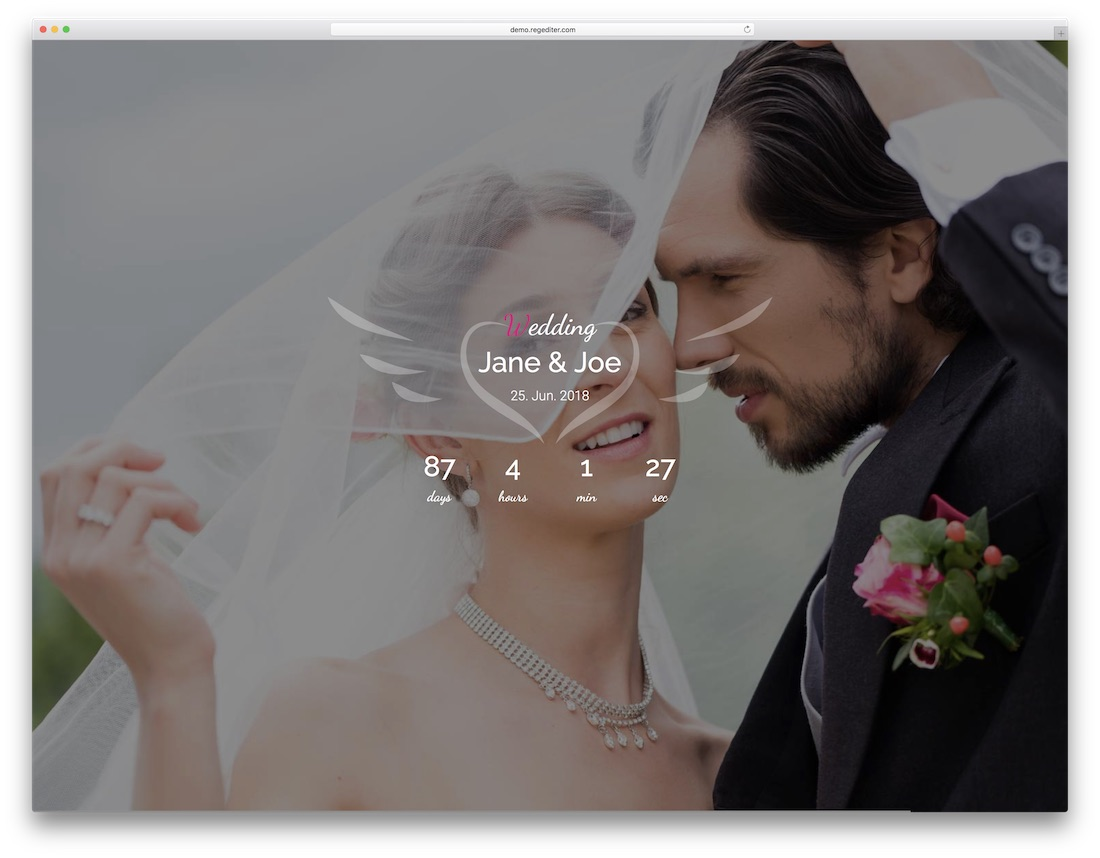 arlin html wedding website template