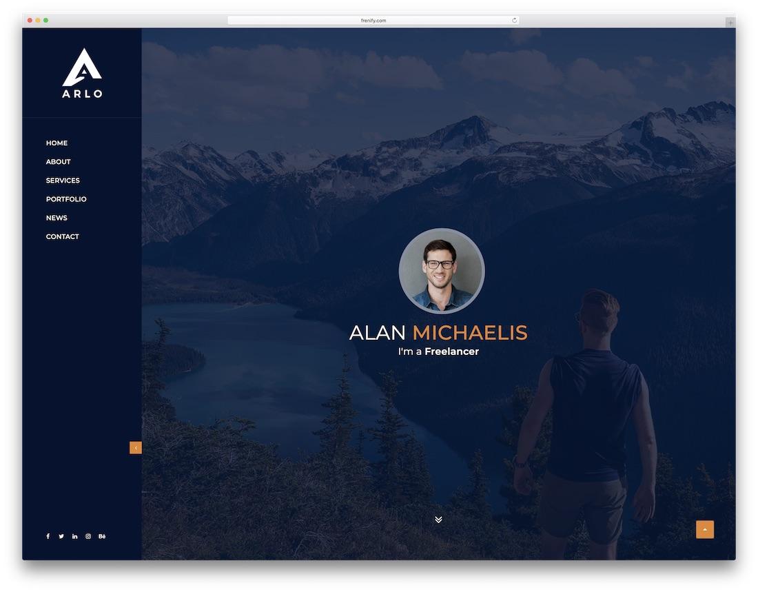 arlo portfolio website template