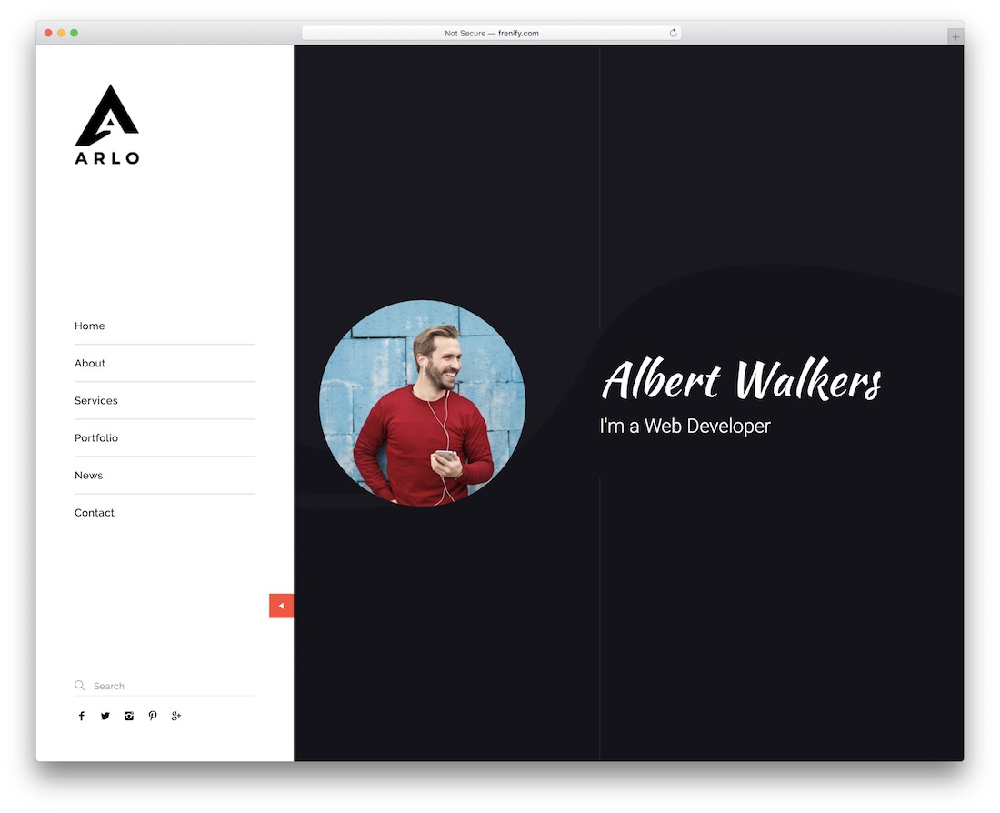 arlo-portfolio wordpress theme